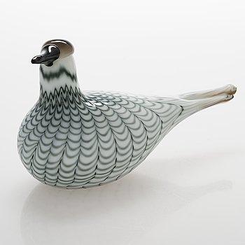 Oiva Toikka, a glass bird signed Oiva Toikka Nuutajärvi, numbered 192/300.