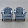 Armchairs, a pair, 1970s.