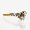 Ring 18k gold and whitegold and 2 old-cut diamonds approx 0,50 ct in total.
