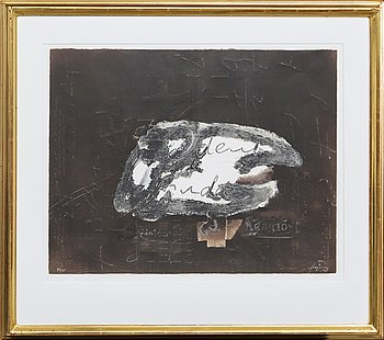 Antoni Tàpies, color etching with embossing. Signed and no. 47/75. Edited my Maeght Paris.
