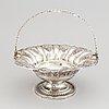 A swedish 19th century silver fruit-basket, mark of gustaf möllenborg, stockholm 1835.