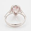 Drop shaped morganite and brilliant-cut diamond ring.