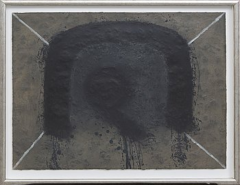 Antoni Tàpies, colour etching with embossing signed and numbered 53/75.