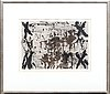 Antoni tàpies, etching signed and numbered hc.