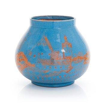 Alfred William Finch,  a vase, around year 1900 by Iris Finland.