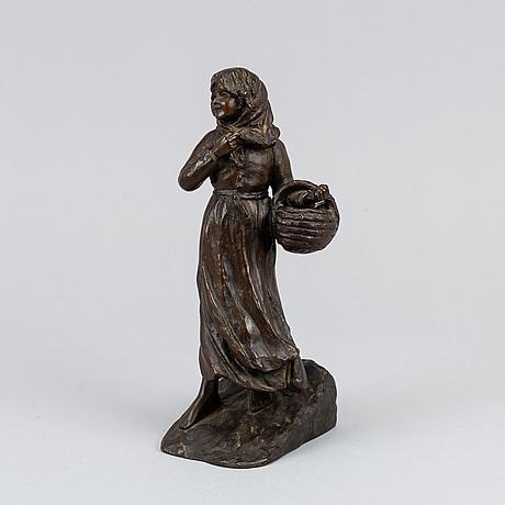 Lena börjeson, sculpture. signed. bronze.