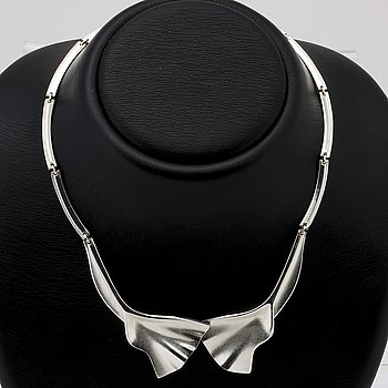 Lapponia silver necklace, approx 41 cm,