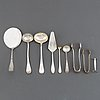 A swedish silver cutlery service, model 'rosen', incl cg hallberg, k anderson, stockholm. (272 pieces).