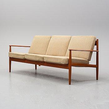 A 1960's teak sofa by Grete Jalk for France & Son, Denmark.