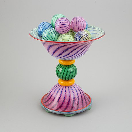 Jonas rooth, a glass sculpture, signed, 1990s.