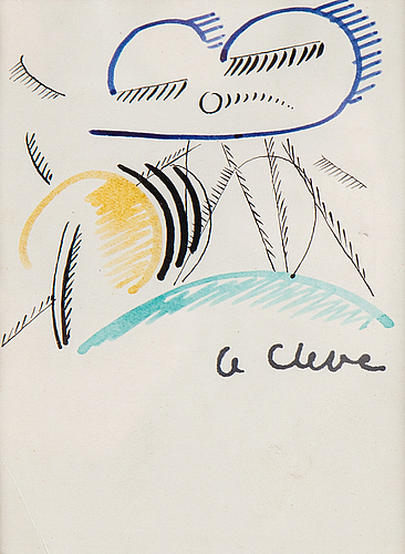 Agnes cleve, ink, signed.