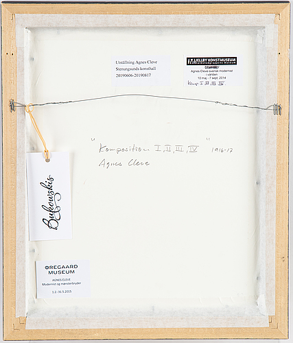 Agnes cleve, ink, signed.