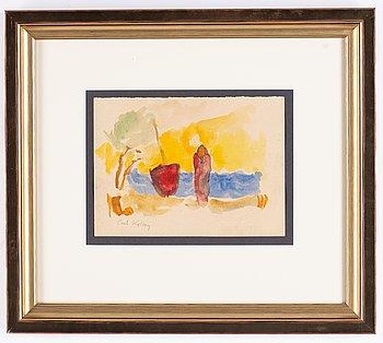 Carl Kylberg, watercolour, signed Carl Kylberg.