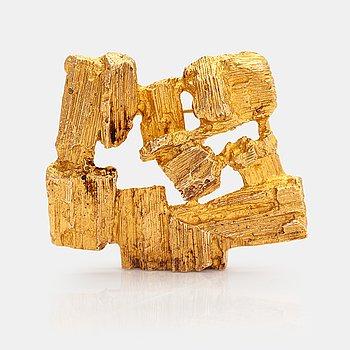 "Björn Weckström,  14K gold brooch ""Drift wood"". Lapponia 1973."