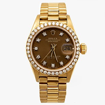 Rolex Oyster Perpetual Datejust, wristwatch, 25 mm.