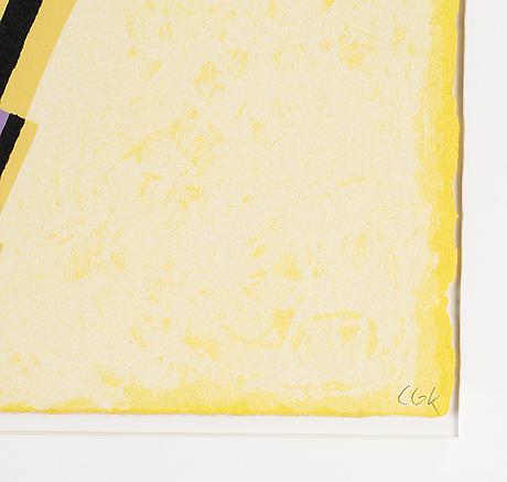 C göran karlsson, silkscreen in colours, signed 10/310.