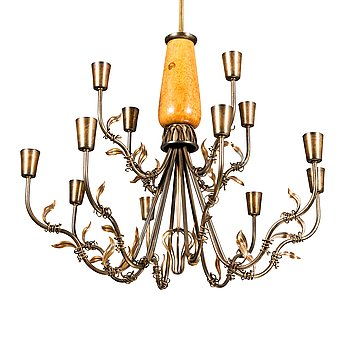 A 1940's chandelier presumably by Gunnel Nyman for Idman.