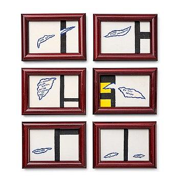 """277. Marie-Louise Ekman, """"Trasig Mondrian och en Gunnar Björling-dikt I-VI""""."""