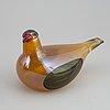 Oiva toikka, skulptur, fågel, glas, nuutajärvi, iittala, finland 2001.