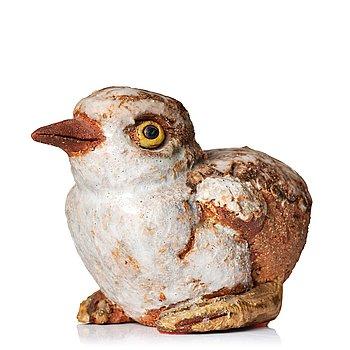 107. Tyra Lundgren, a stoneware sculpture of a bird, Sweden probably 1960's.