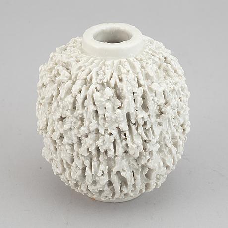Gunnar nylund, a stoneware vase, rörstrand, sweden 1940's.