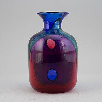 Archimede Seguso, a glass vase, Murano, Italy 1980-90's.