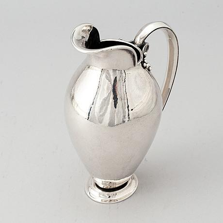 Cg hallberg, a silver jug, stockholm 1943.
