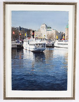 Stanislaw Zoladz, watercolour, signed.