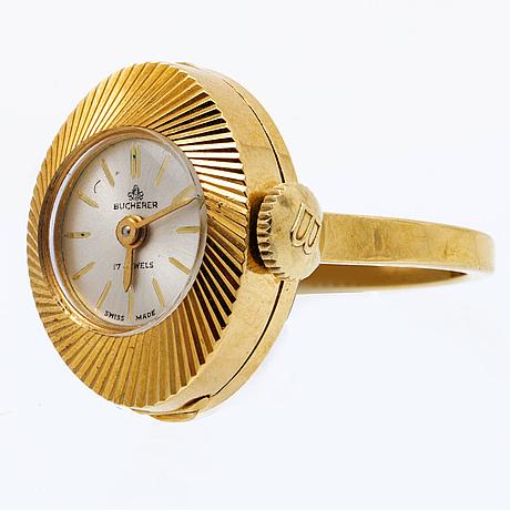 Bucheron, ring / watch 18k.