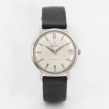 Universal, Genève, Polerouter, wristwatch, 34 mm.