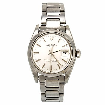 Rolex, Oyster Perpetual, Date, Chronometer, armbandsur, 34,5 mm.