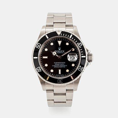 """Rolex, submariner, """"engraved rehaut""""."""
