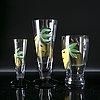 Ulrica hydman-vallien, a set of 11 glasses for kosta boda.