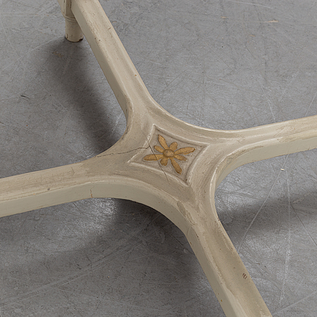 A gustavian style table, early 20th century.