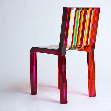 """Patrick norguet, a """"rainbow chair"""" for cappellini, post 2000."""