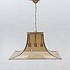 """Esperia, italy, """"pagoda"""", ceiling lamp, 1960s-70s."""
