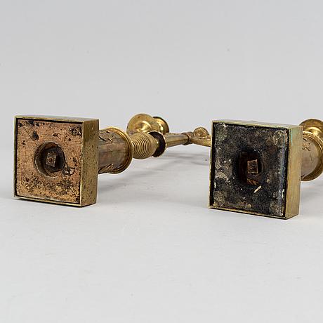 Kandelabrar, ett par, senempire, 1800-talets mitt.