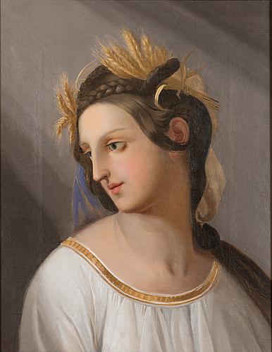 Okänd konstnär, 1800-talets mitt, olja på duk, osignerad.
