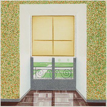 "439. David Hockney, ""Contrejour in the French Style""."