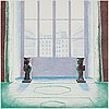 """David hockney, """"two vases in the louvre""""."""