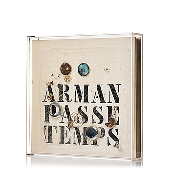 "704. Arman (Armand Pierre Fernandez), ""Passe temps""."