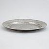 A set of three pewter plates, including mark of johan bruhn, västervik 1784.