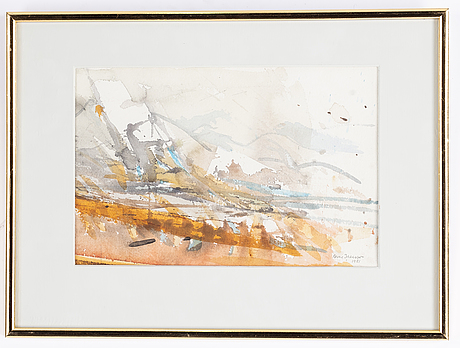 Arne isacsson, watercolour, signed and dated 1981.
