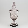 A large empire crystal lidded cup with insert for serving/cooling, 19th century.