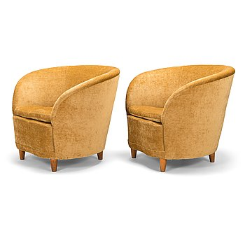 A pair of 1930's armchairs for Mobilia.