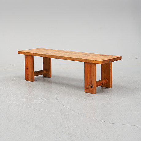 A pine mirror and bench, sven larsson, end of the 20th century.