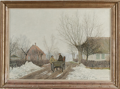 Ole ring, oil on canvas, signed and dated 1943.