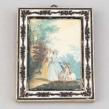 Unknown artist 18th Century. Miniature. Unsigned.