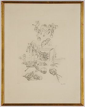 Djuric Miodrag Dado, Several titles, 30 etchings, all signed with different numbers. 1970s.