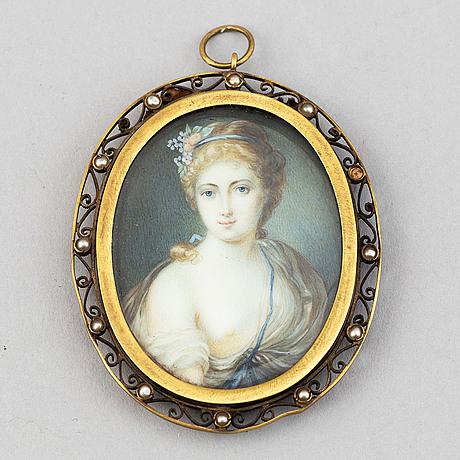 Unknown artist 19th century. miniature. unsigned.